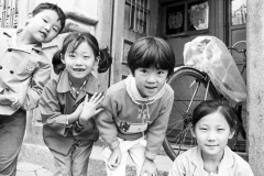 Children in Street, Quingdao, China