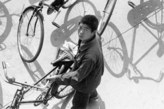 Man with Bicycle, Quingdao, China