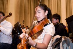 Violinist, Simon Bolivar Youth Orchestra Rehearsals, The Guardian