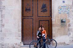 Two cyclists, Alcoy near Alicante The Guardian