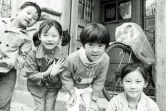 Children in Street, Qingdao, China