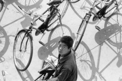 Man with Bicycle, Qingdao, China